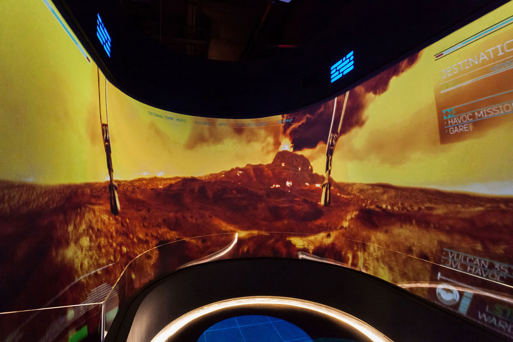 Destination Venus immersive attraction at the UK's National Space Center
